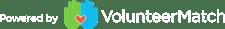 vm logo - powered by volunteermatch - white