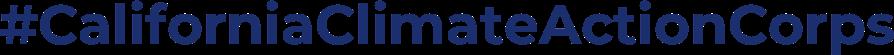 logo - #californiaclimateactioncorps